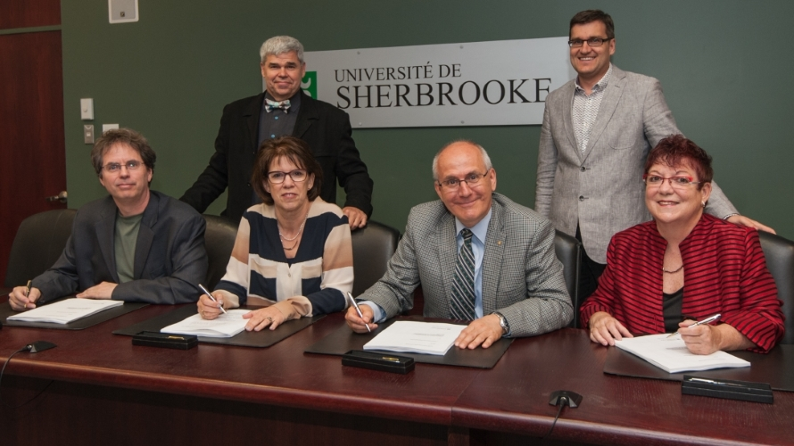Convention signée à Sherbrooke