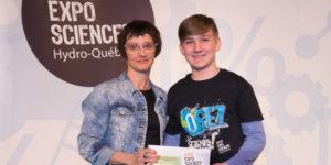 Mikael Hainey, prix FPPU Expo-sciences 2018