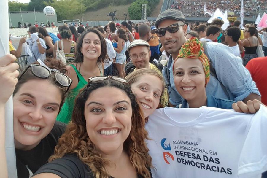 Quelques participants québécois au Forum social mondial 2018 au Brésil