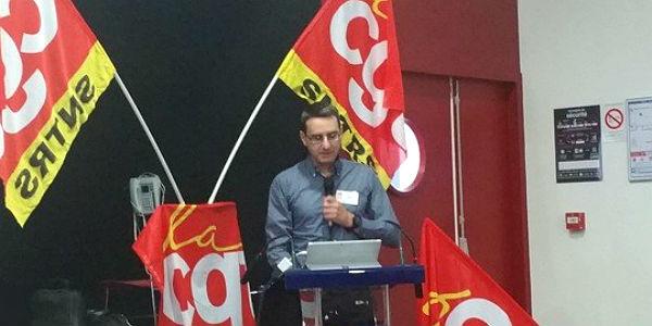 Michel Ouellet au congrès du SNTRS en mars 2018