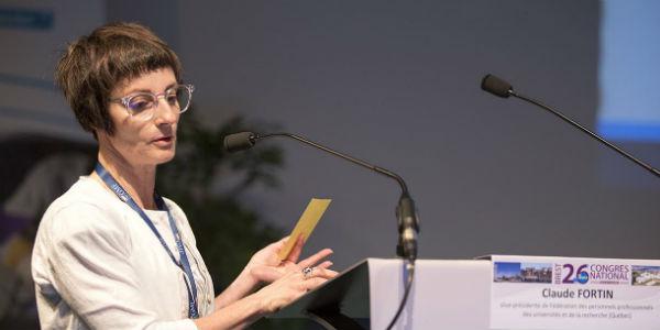 Claude Fortin congrès SNPTES en mai 2018