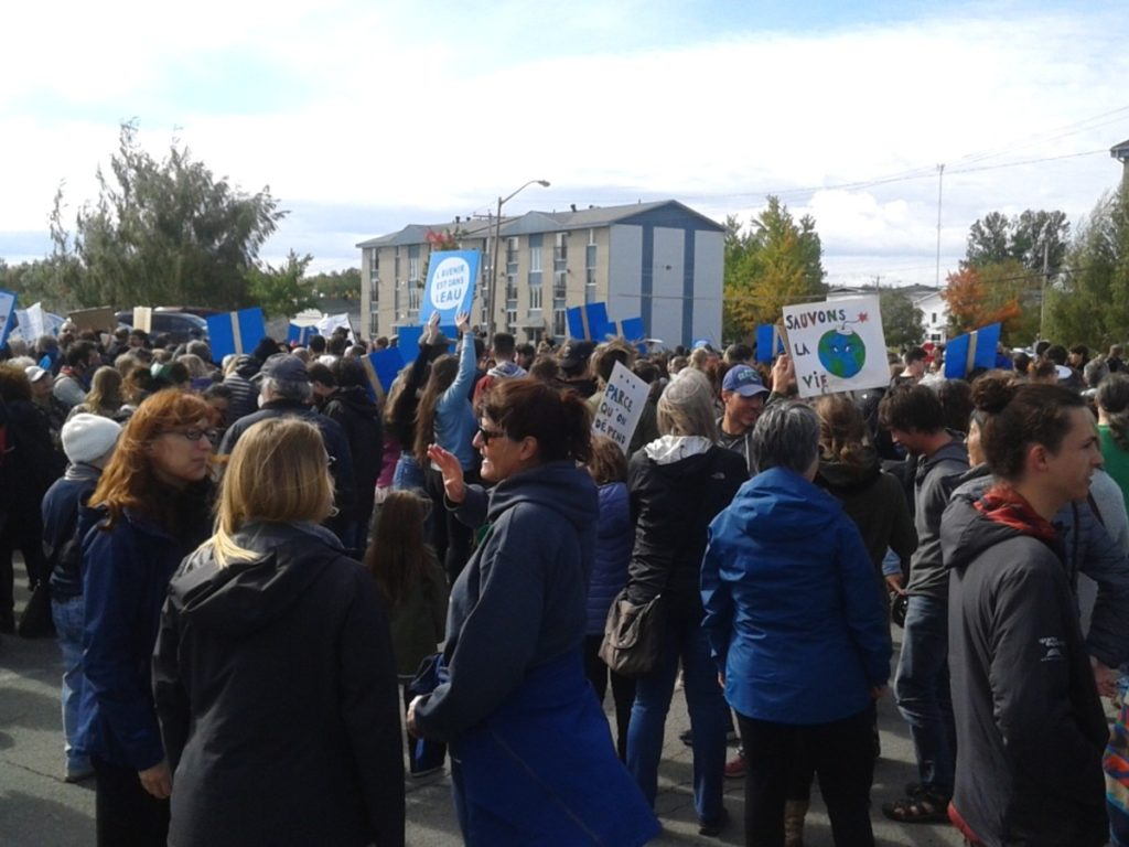 Manif climat Rouyn 2019