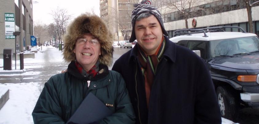 L'avocat Georges Marceau et le syndicaliste Bernard Gaucher
