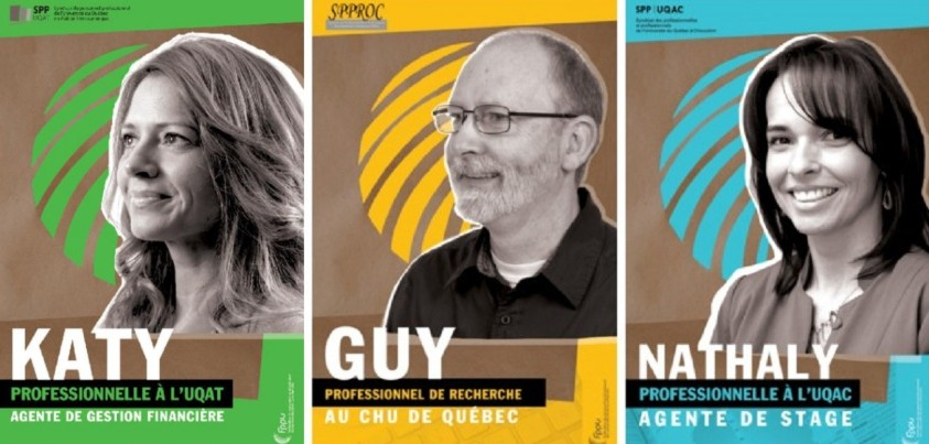 Visages de trois professionnels universitaires