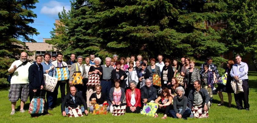 Photo de groupe des membres FPPU en congrès à Moncton