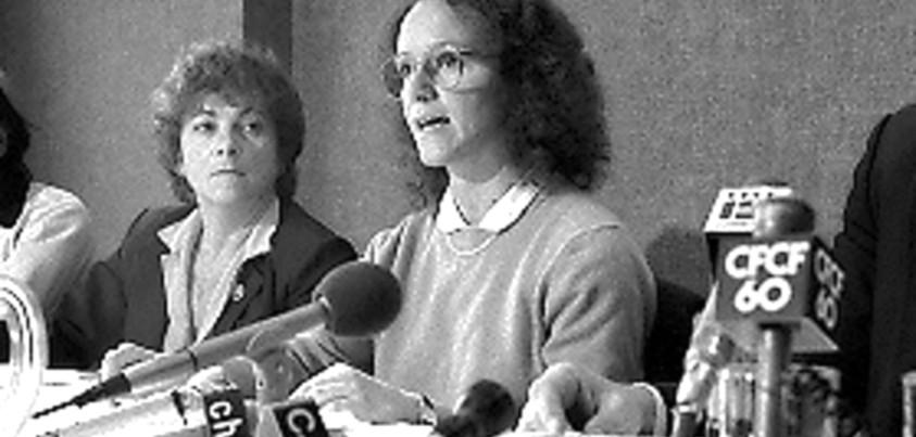 Carole Demers en conférence de presse